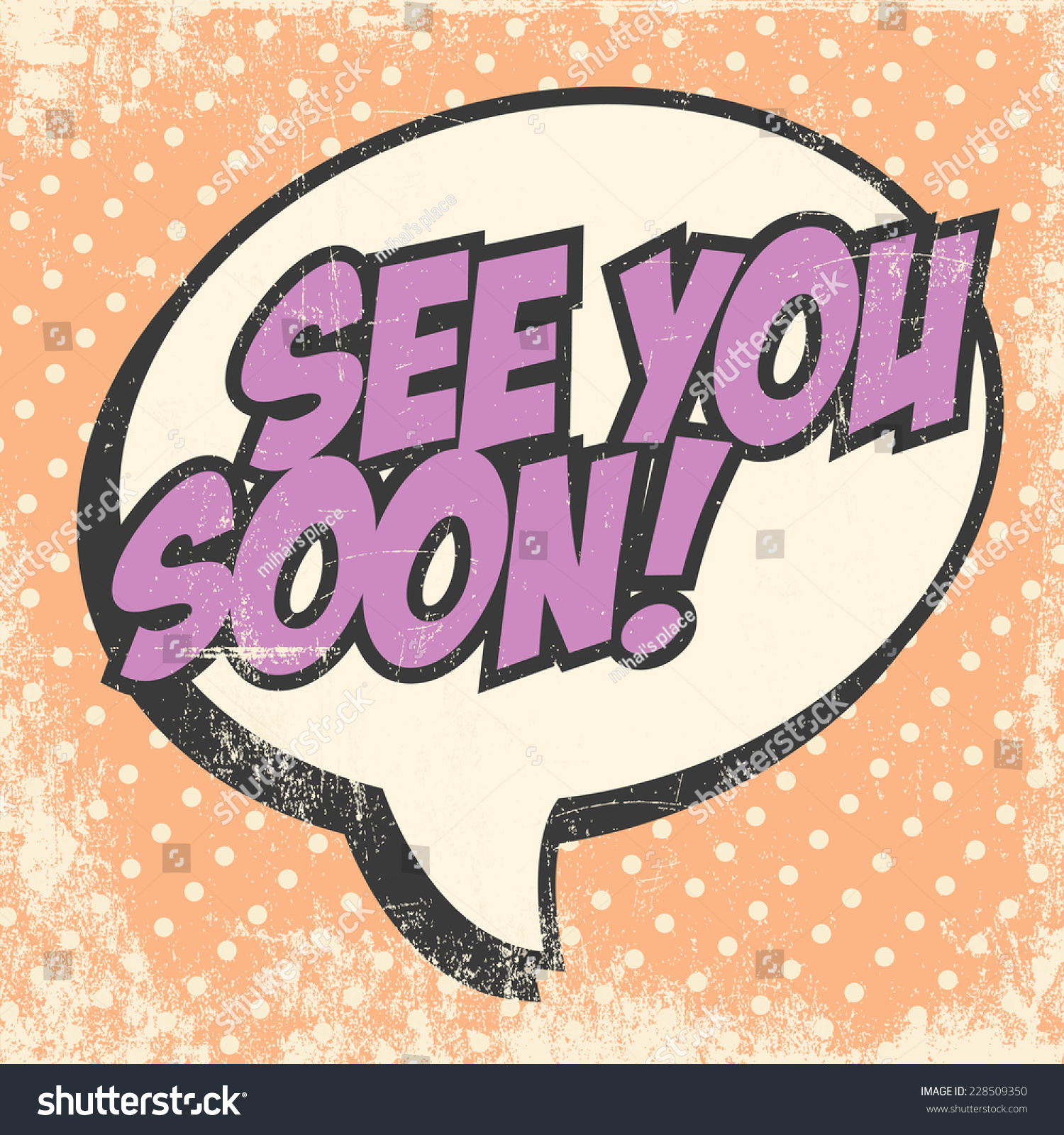 See You Soon Illustration Vector Format Stock Vector