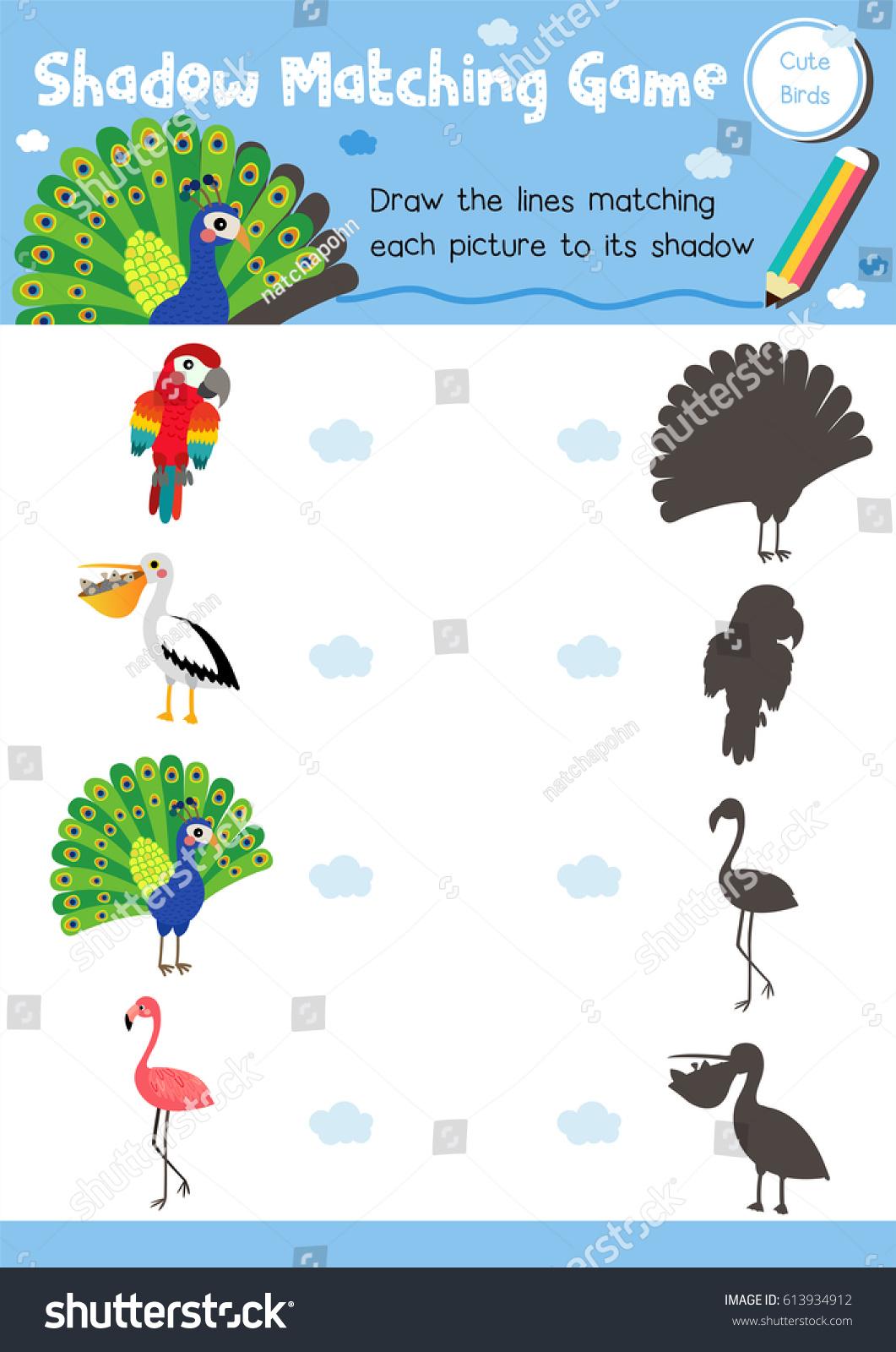 Worksheets For Preschool Sky Shadow Worksheets Best Free