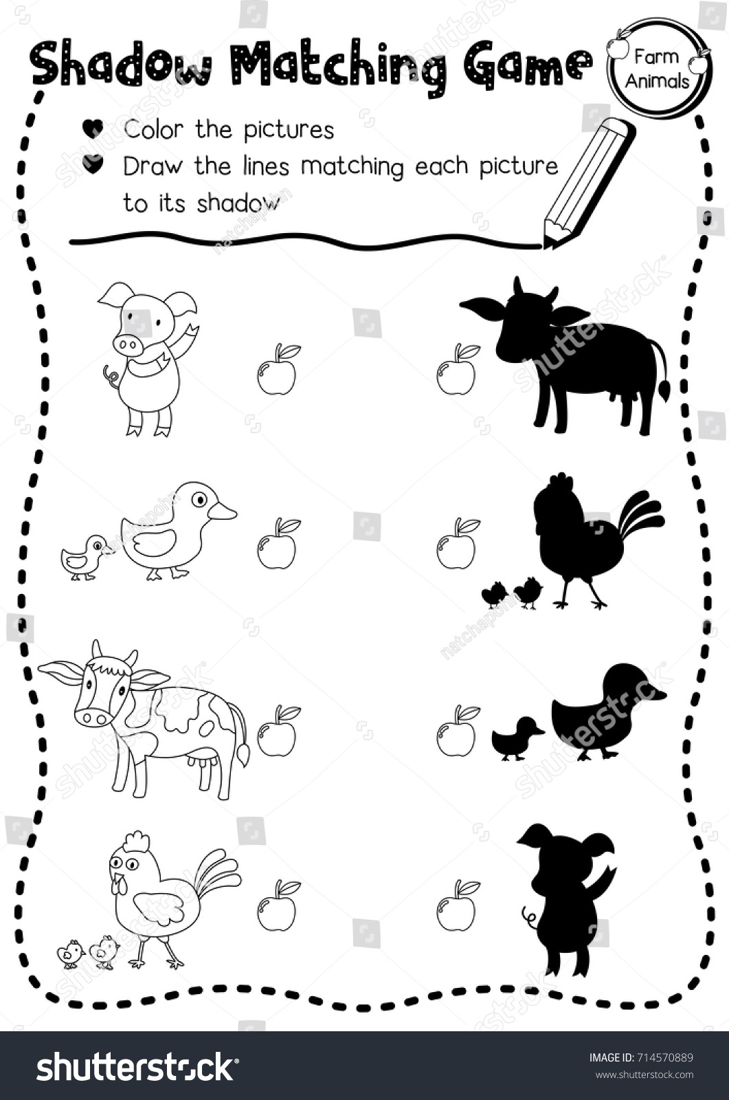 Zoo Animals Coloring Worksheet