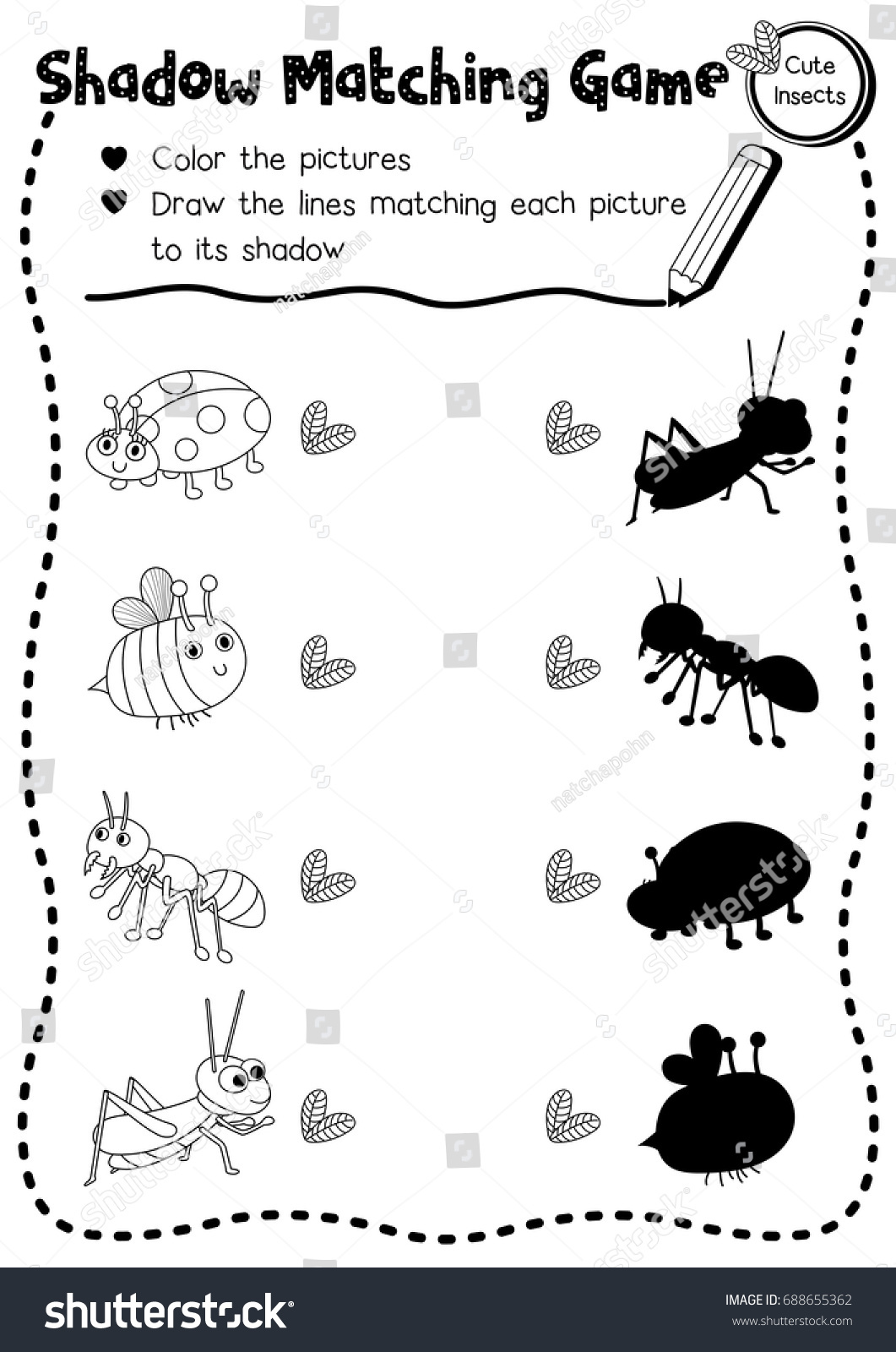 Ant Worksheets For Kindergarten