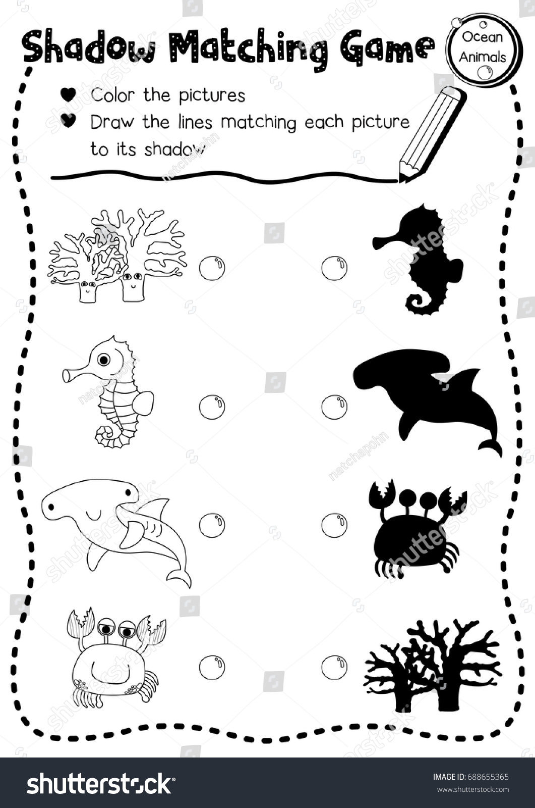 Ocean Fish Worksheet