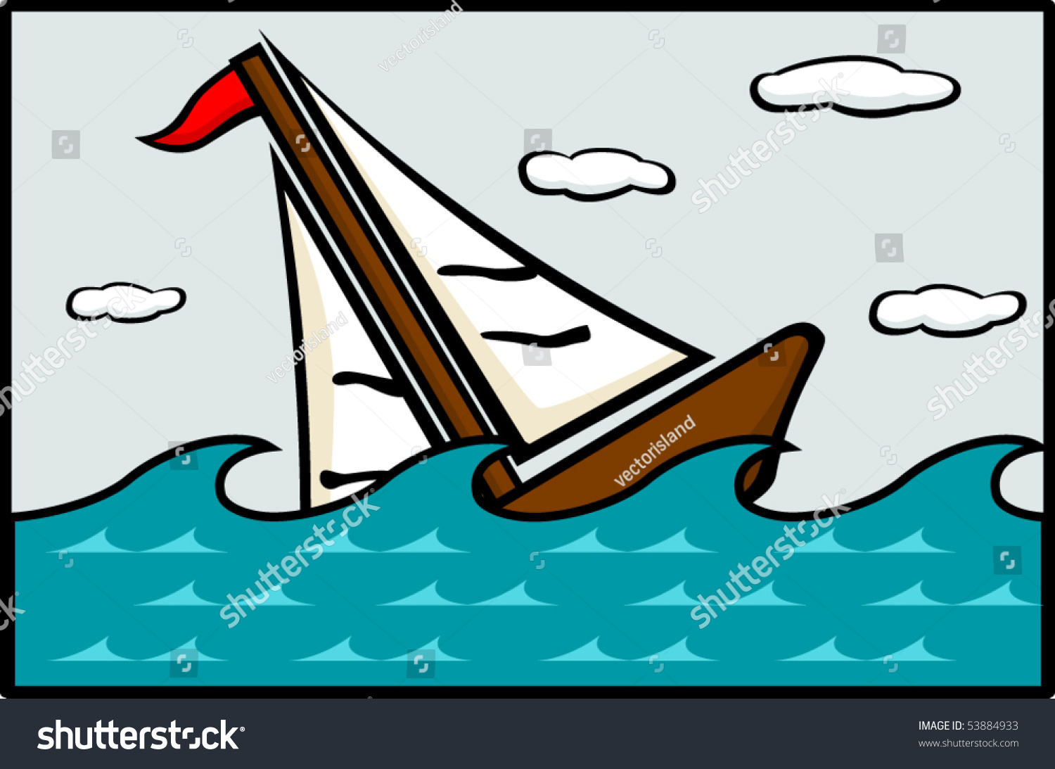 Sinking Ship Stock Vector