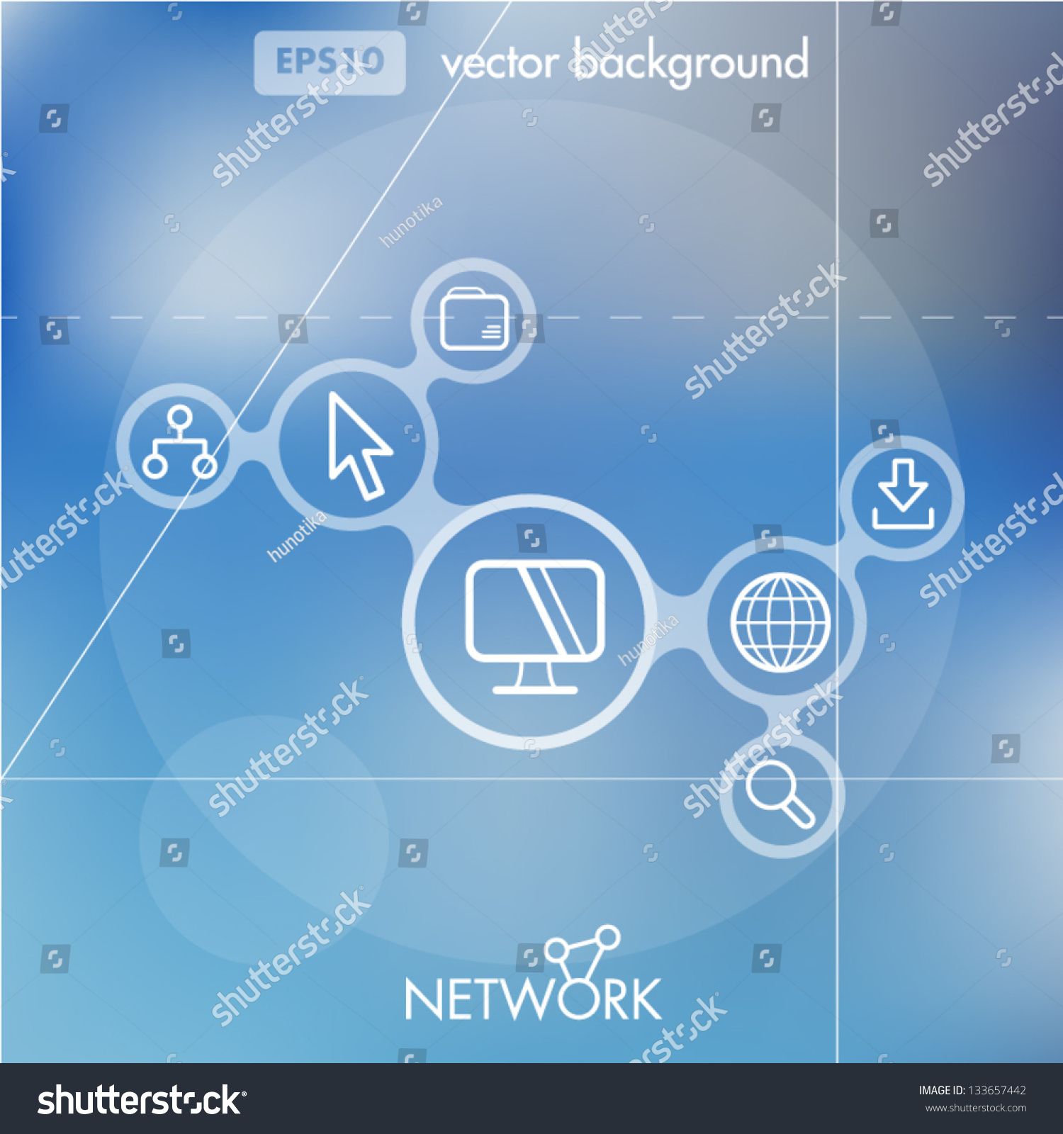 Social Networking Creative Icon Background Concept Stock