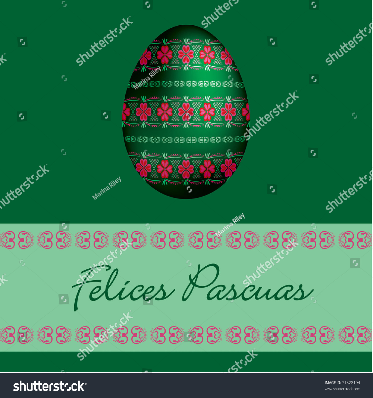 Spanish Happy Easter Cards In Vector Format 71828194