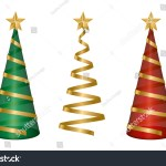 Spiral Ribbon Christmas Tree Isolated Vector Stock Vector Royalty Free 757767394