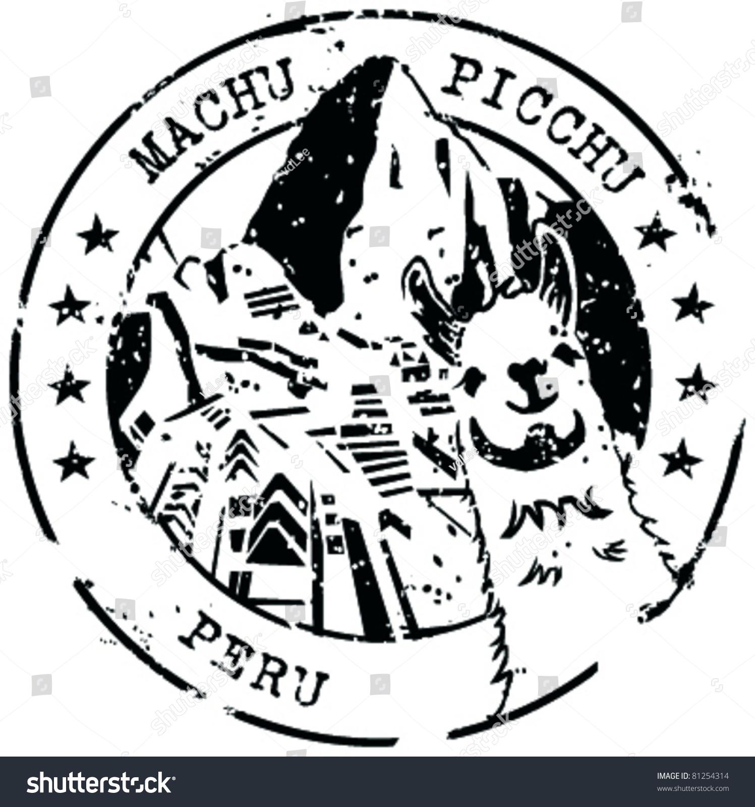 Stamp Machu Picchu Peru Stock Vector Shutterstock
