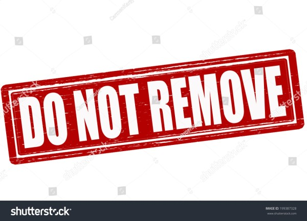 Stamp Text Do Not Remove Inside Stock Vector 199387328 ...