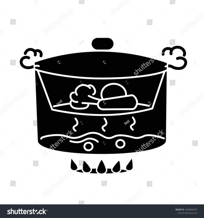 Steaming Black Glyph Icon Cooking Food Stock Vector Royalty Free 1686849475