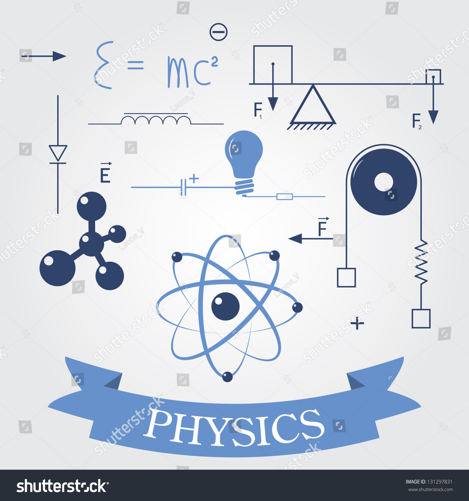 Symbols Of Physics Vector Elements For Design Eps8