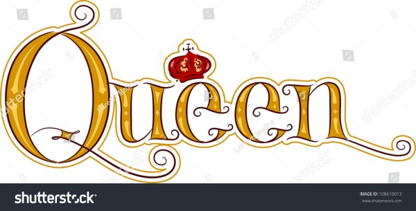 Text Illustration Featuring Word Queen Stock Vector ...