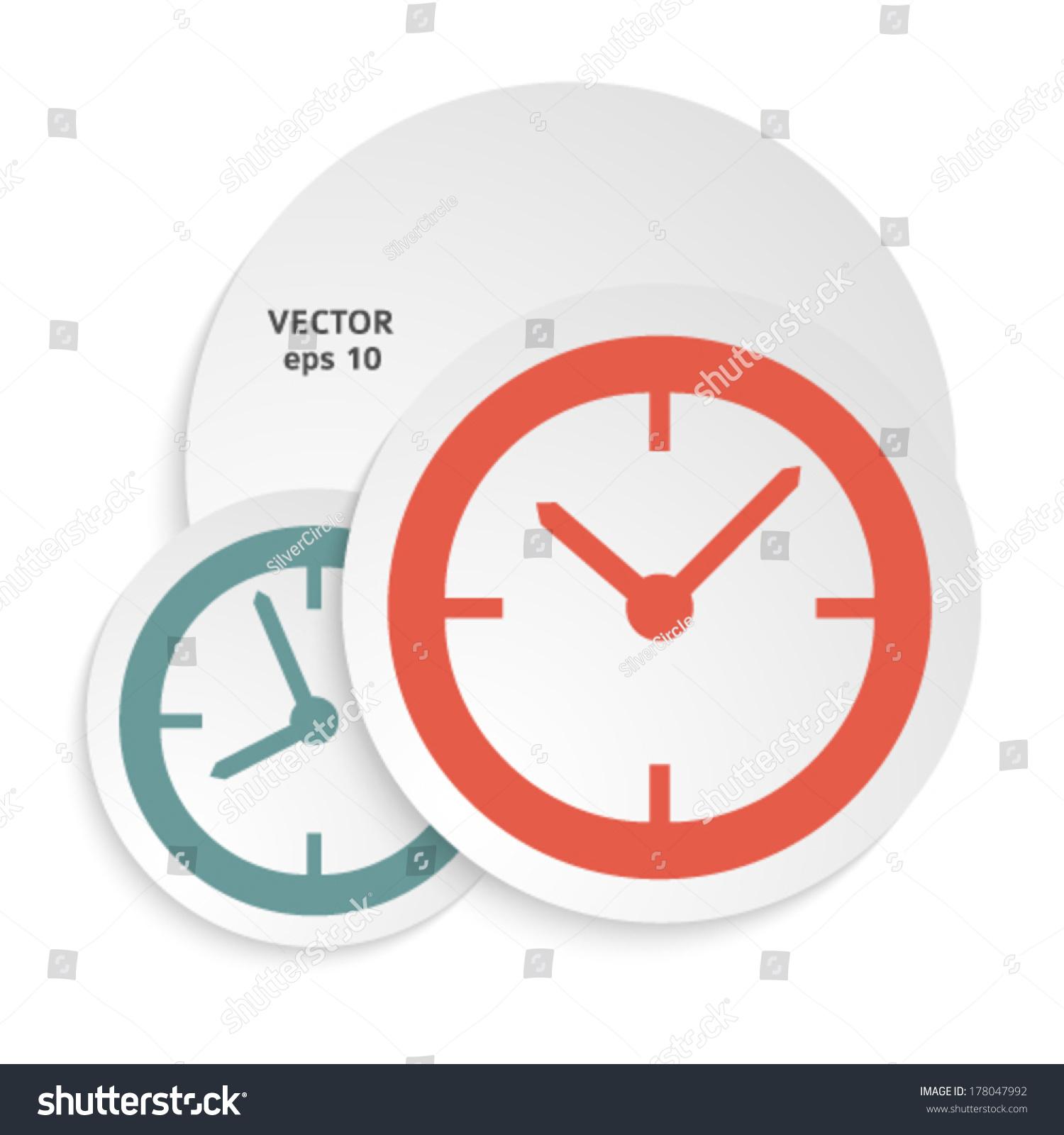 Clock Concept Poster Cover Book Elegant Stock Vector