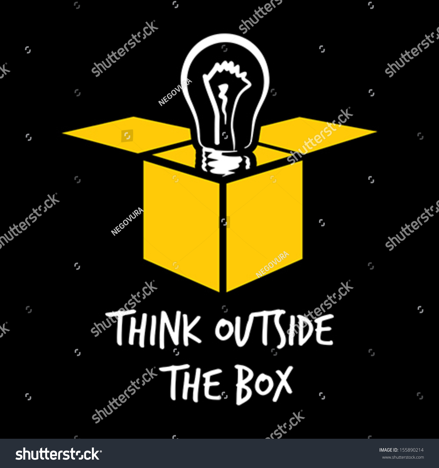 Think Outside Box Stock Vector