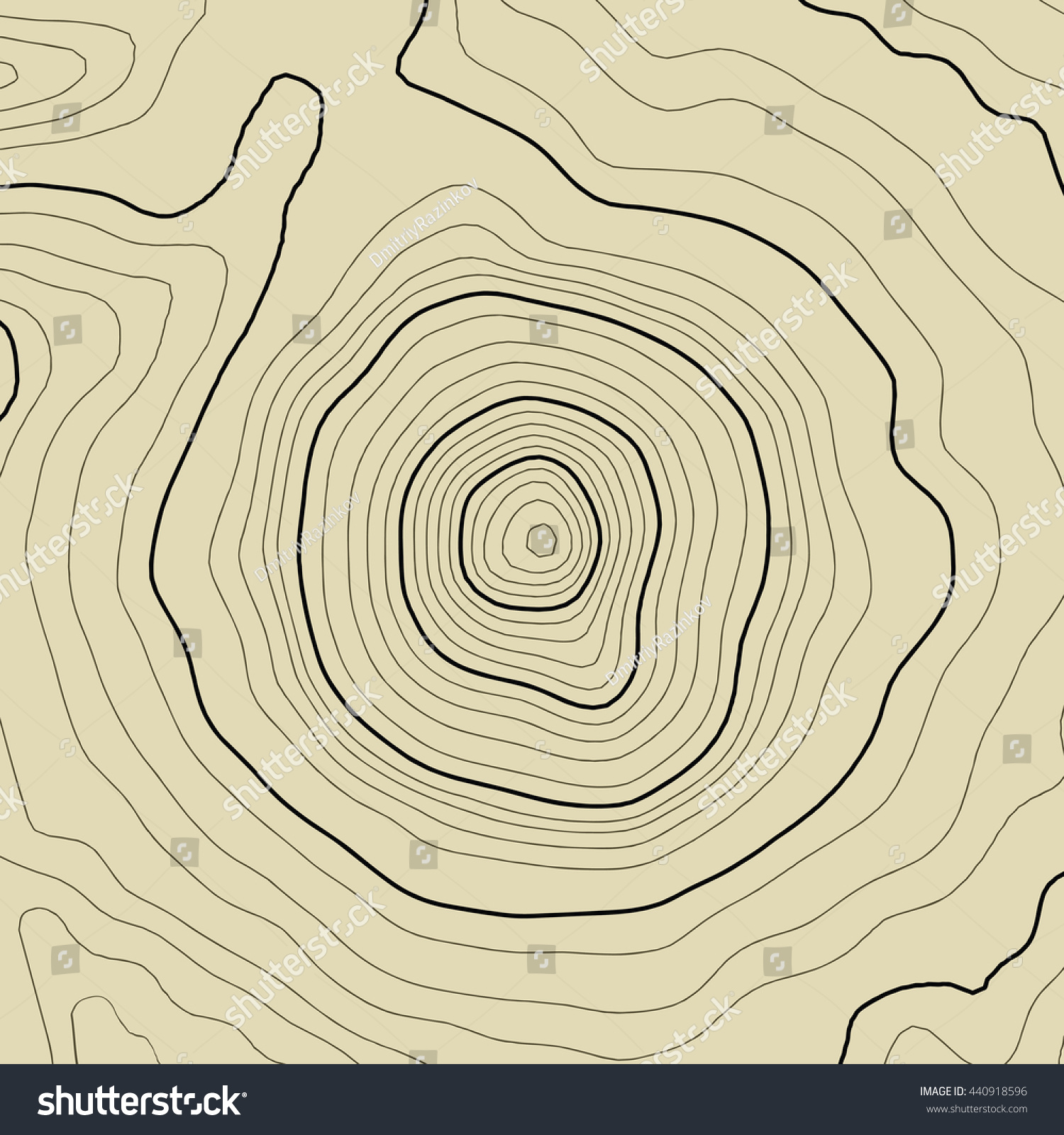 Topographic Map Vector Topography Lines Art Stock Vector