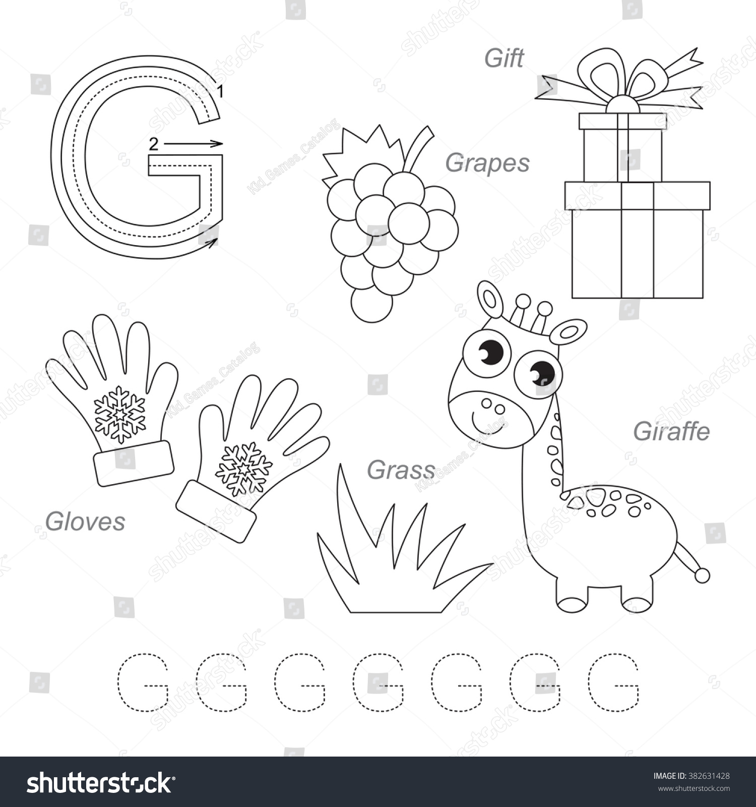 Worksheet Letter G Sort