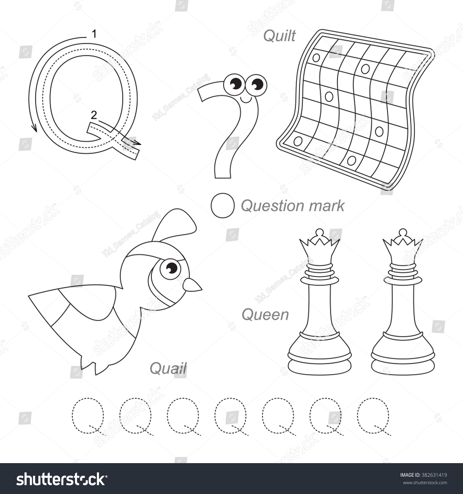 Tracing Worksheet Children Full English Alphabet Stock Vector