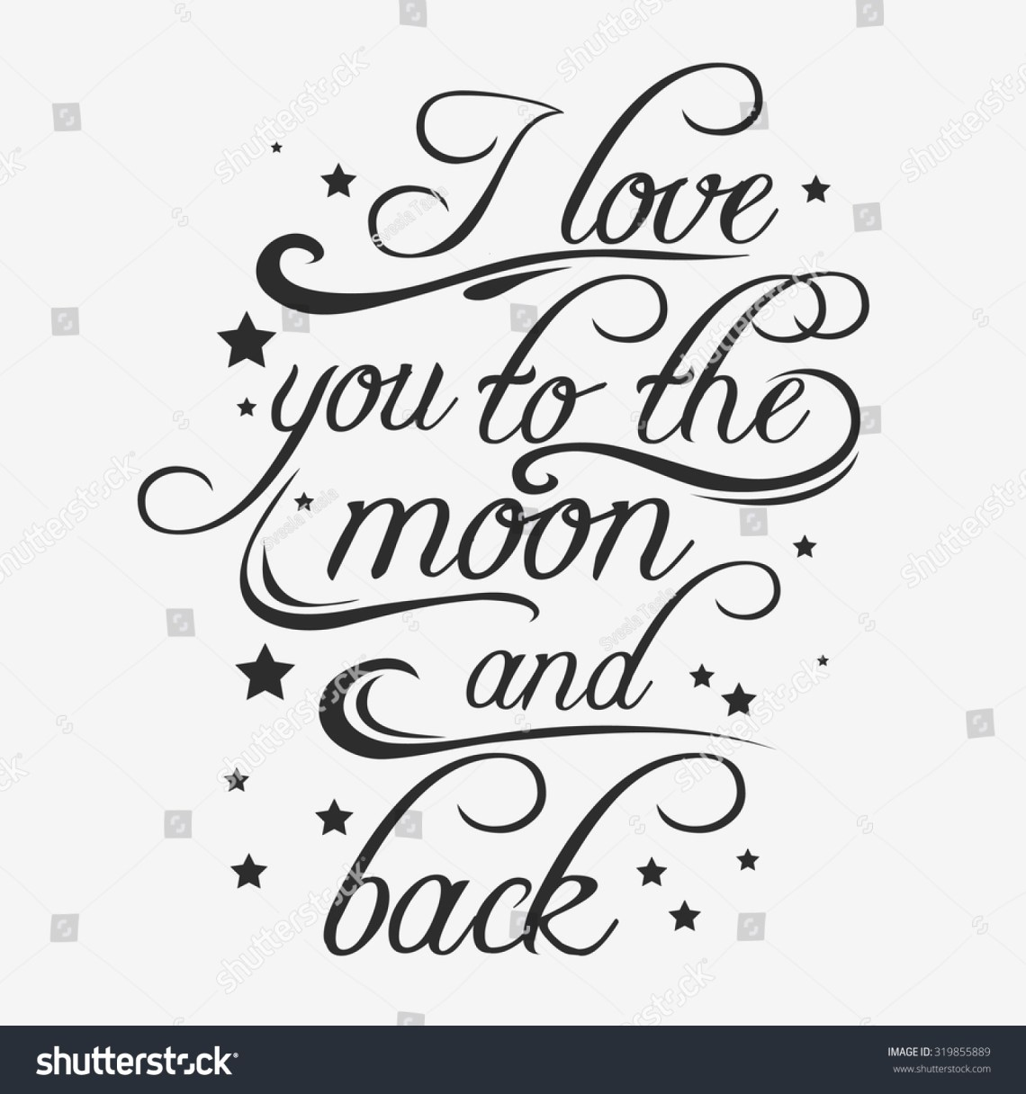 Download Typography Poster Romantic Quote Love You Stock Vector ...
