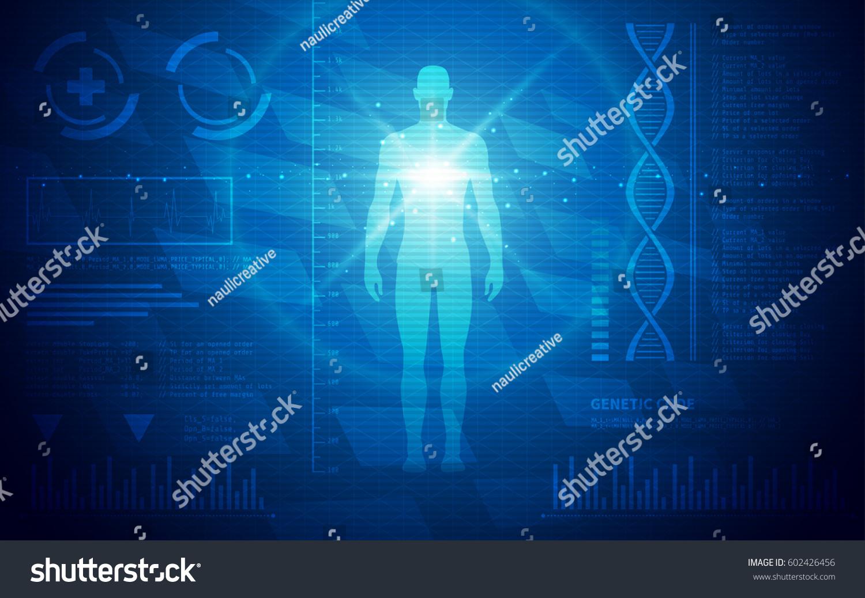 Ultra Hd Abstract Sci Fi Human Stock Vector Royalty Free 602426456