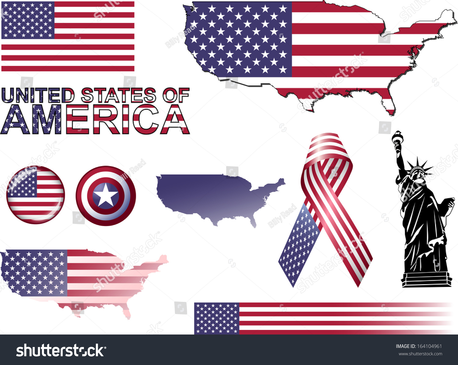 Usa Icons Set Vector Graphic Icons Stock Vector
