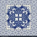 Vector Background Blue White Portuguese Tiles Stock Vector