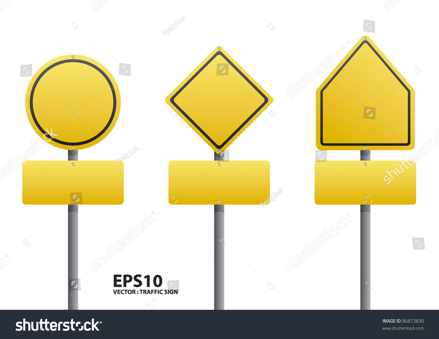 Vector Blank Traffic Sign