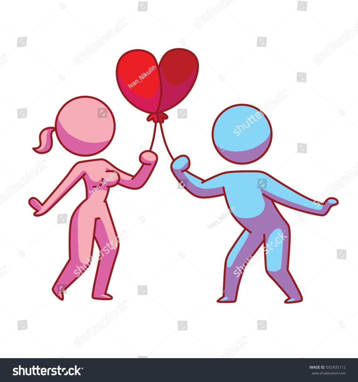 Download Vector Cartoon Image Loving Couple Pink Stock Vector ...