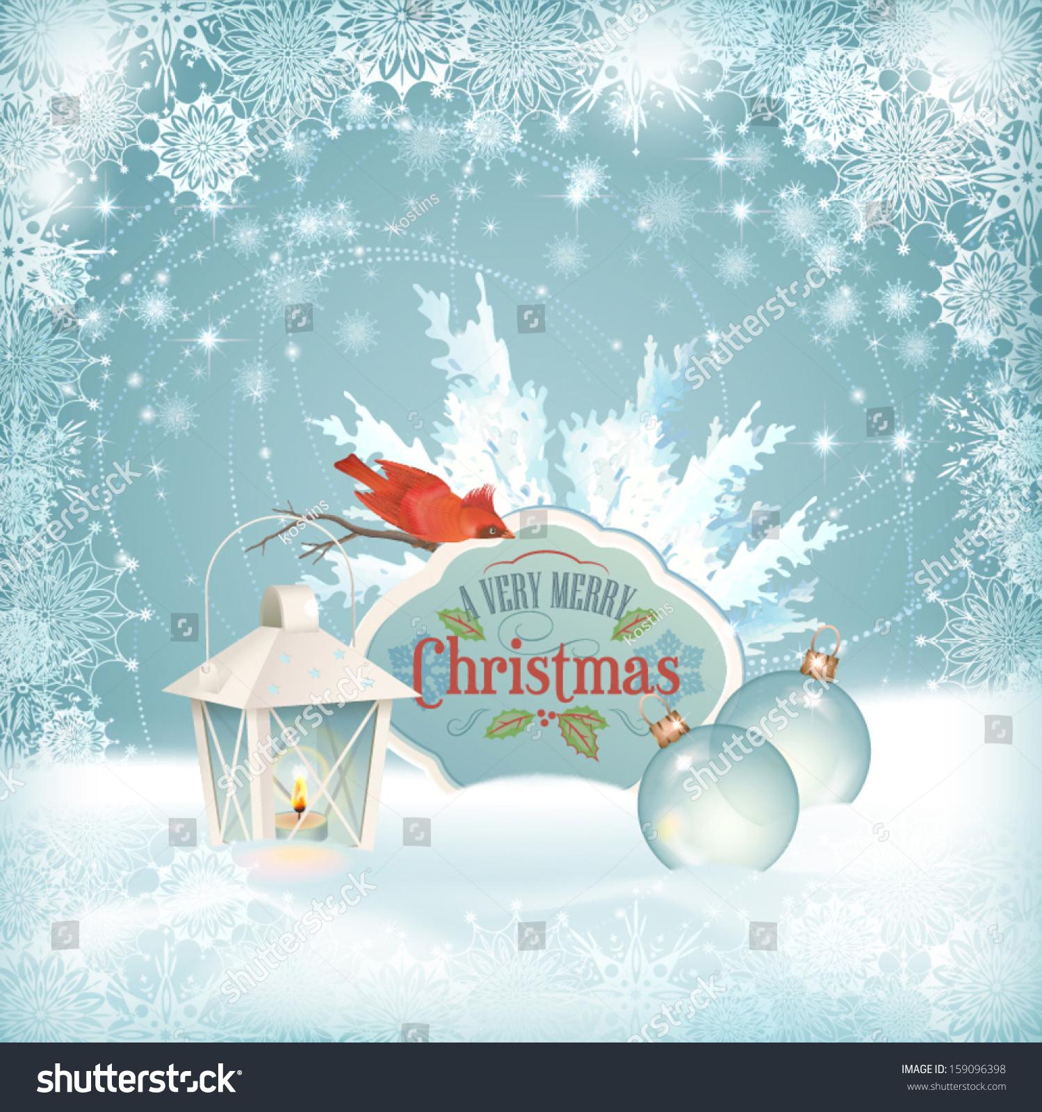 Vector Christmas Snow Background Xmas Winter Stock Vector