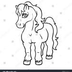 Vector De Stock Libre De Regalias Sobre Vector Cute Cartoon Line Art Pony677956714