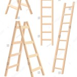 Vector Illustration Aluminum Step Folding Ladder Stock Vector Royalty Free 564052822