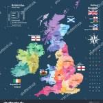 Vector Map British Isles Administrative Divisions Stock Vector Royalty Free 769140097