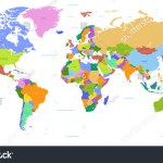 Vector Political World Map Countries Highlighted Stock Vector Royalty Free 537391513