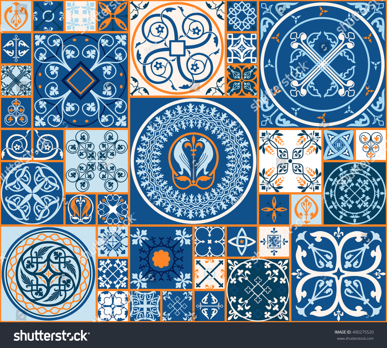 https www shutterstock com image vector vector tiles moroccan seamless pattern tile 400275520