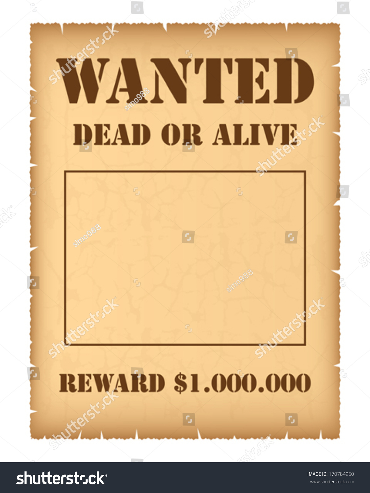https www shutterstock com image vector wanted poster 170784950