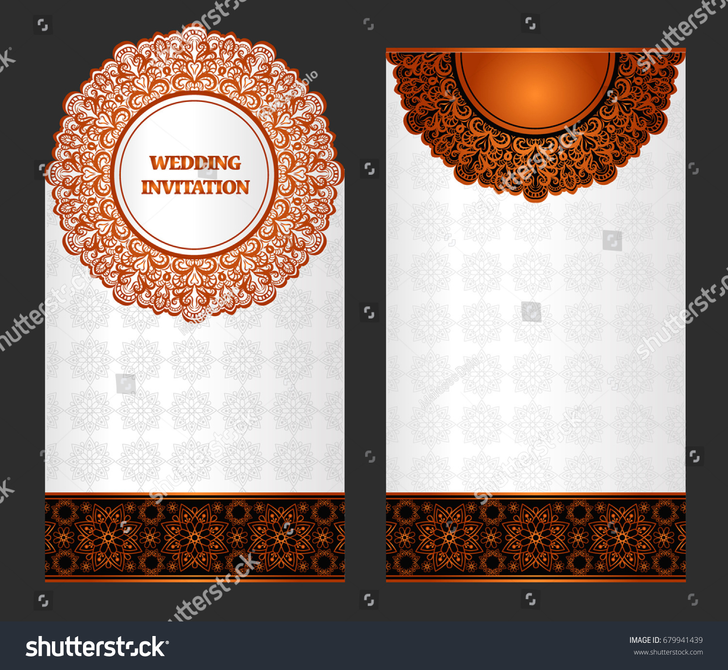 https www shutterstock com image vector wedding invitation card abstract background islam 679941439