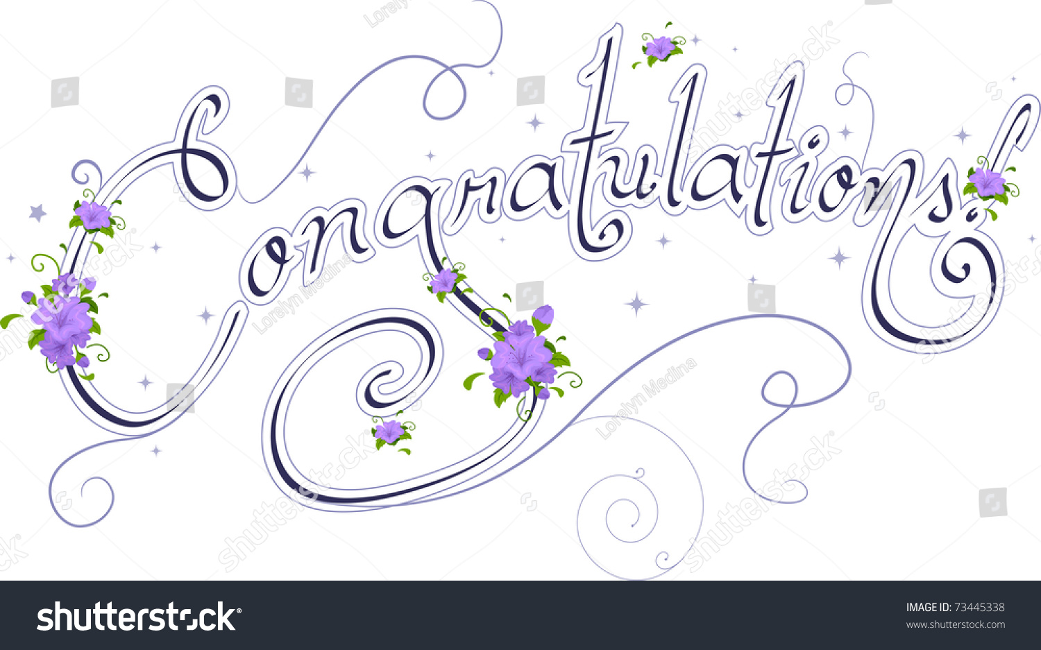 Wedding Text Featuring The Word Congratulations Stock