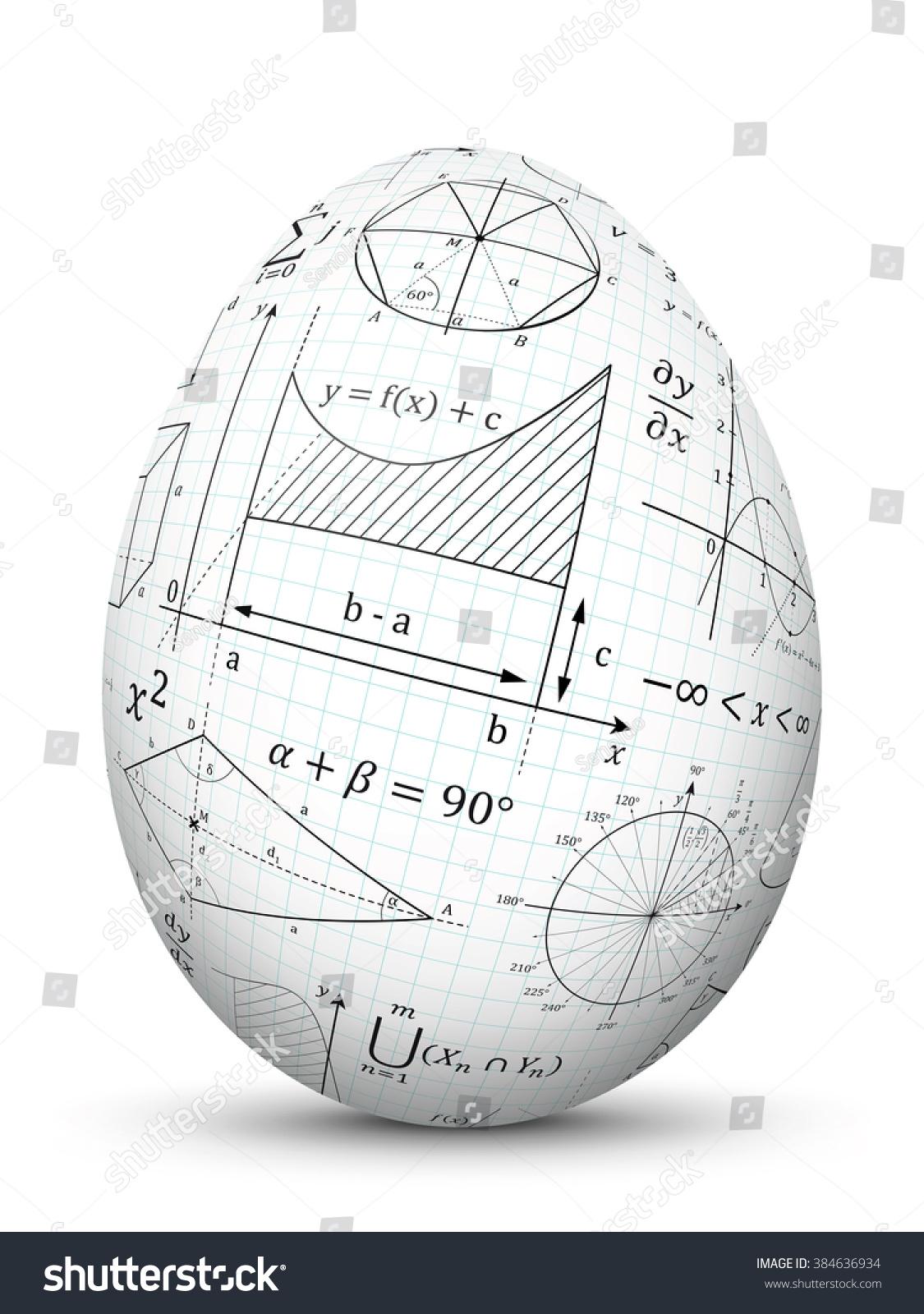 White 3d Vector Easter Egg Graph Stock Vector