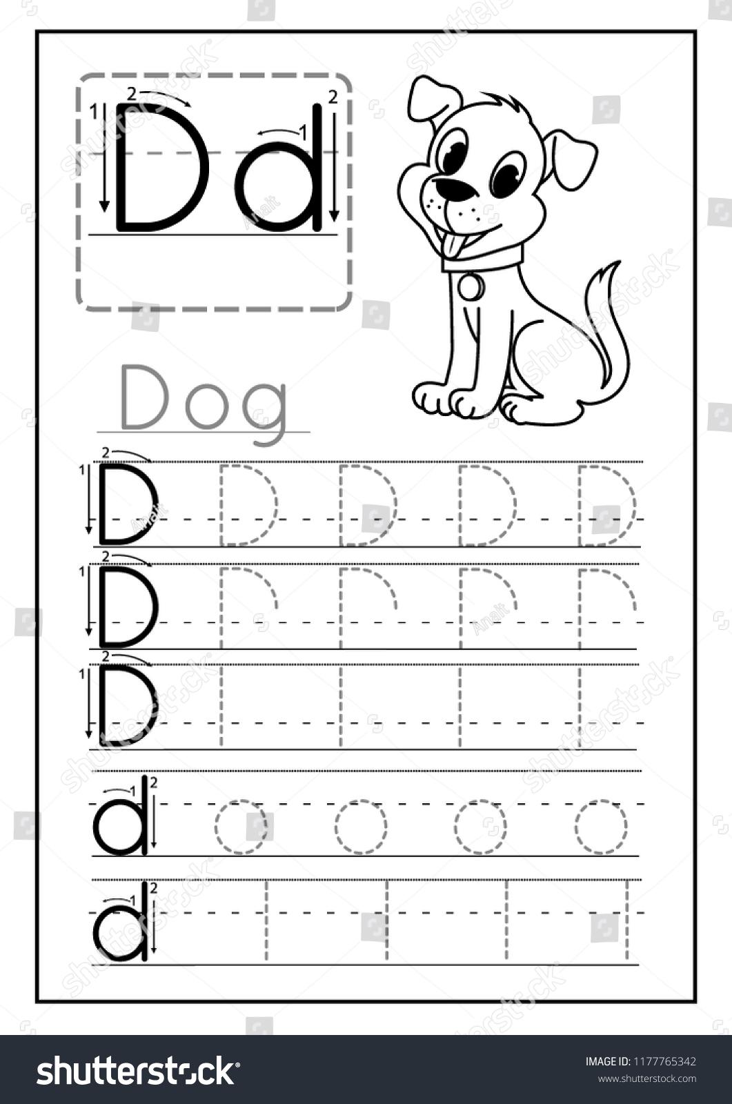 Preschool Worksheet Letter D