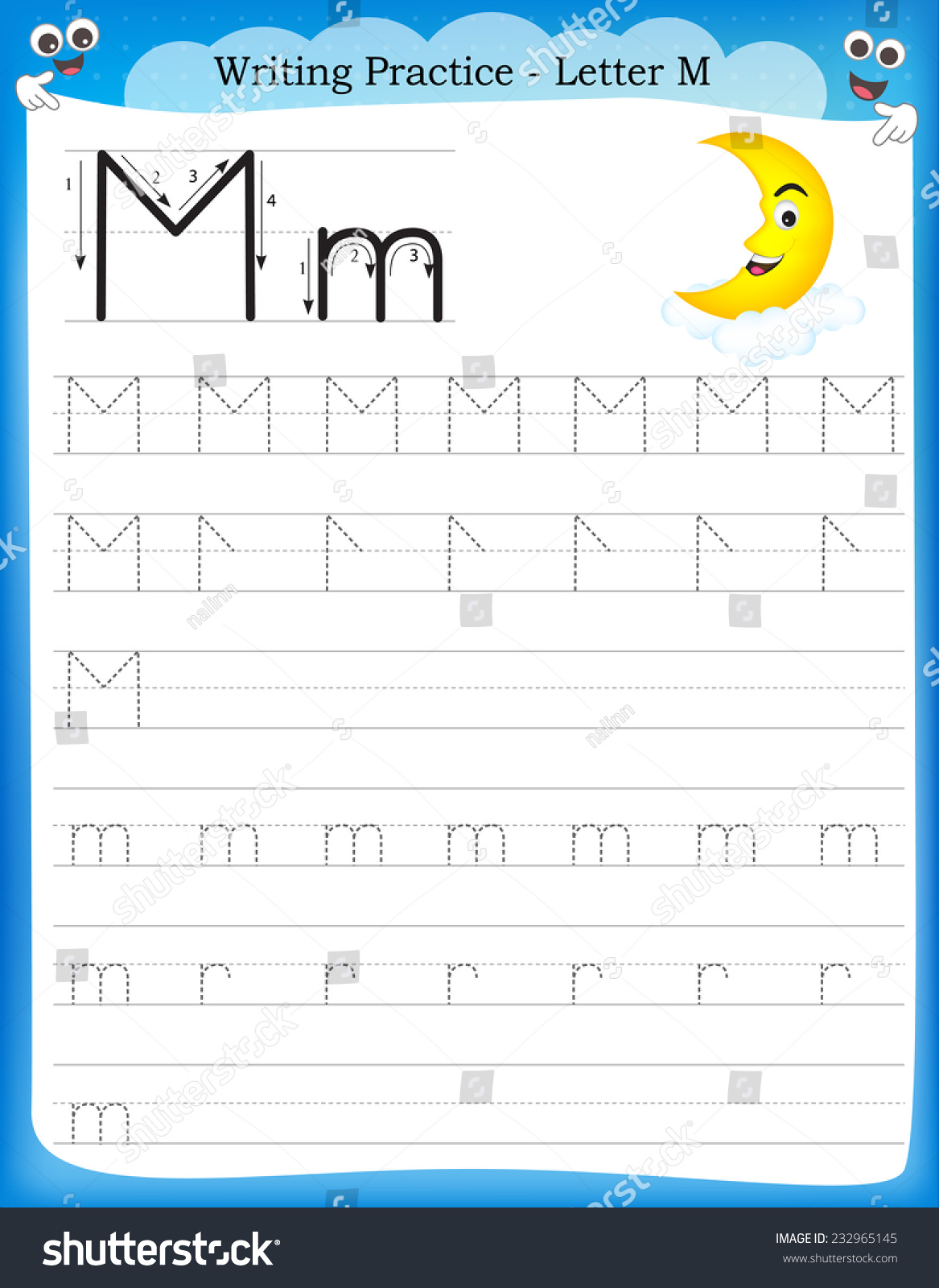Worksheet For The Letter M Kindergarten