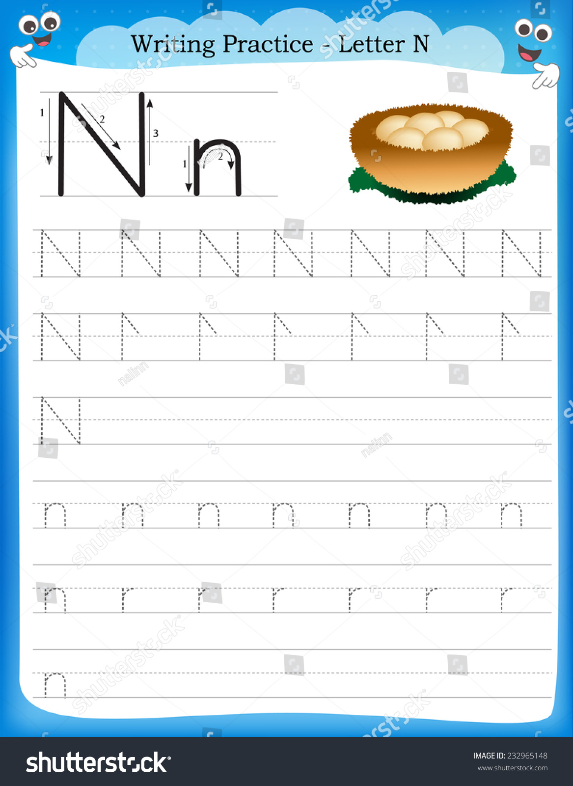 Letter N Worksheet Mybook