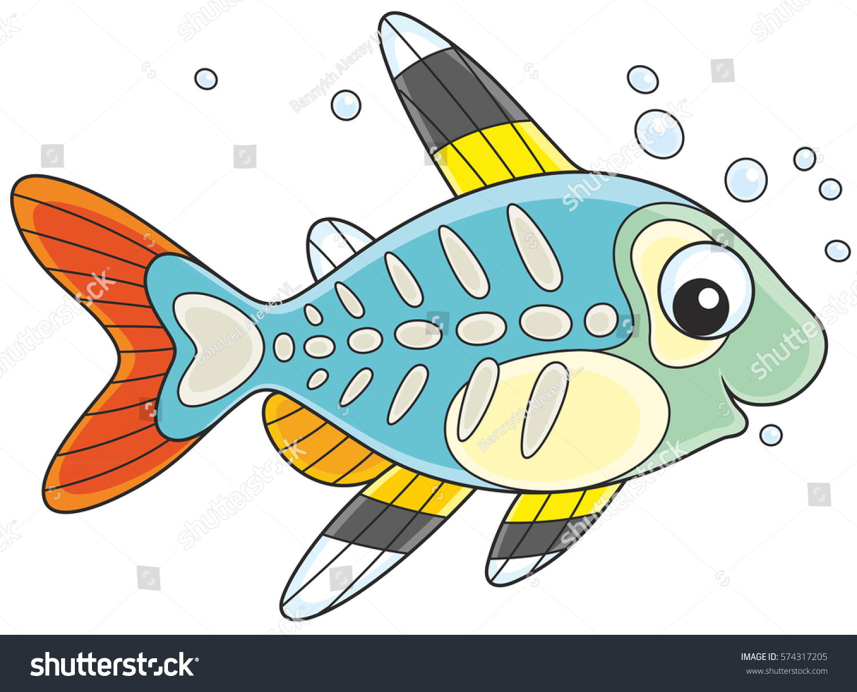 Xray Fish Stock Vector