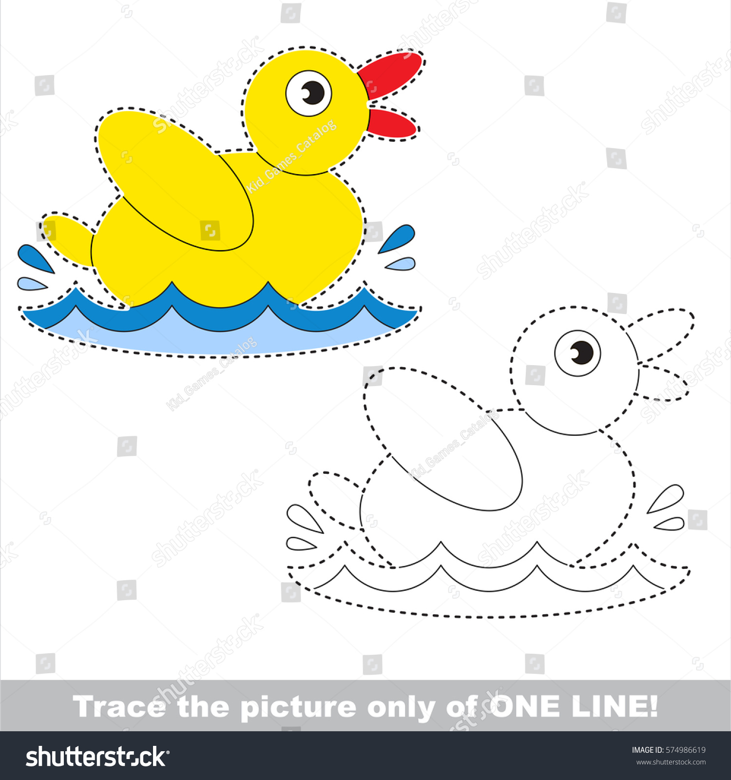 Yellow Duck Preschool Worksheets Yellow Best Free