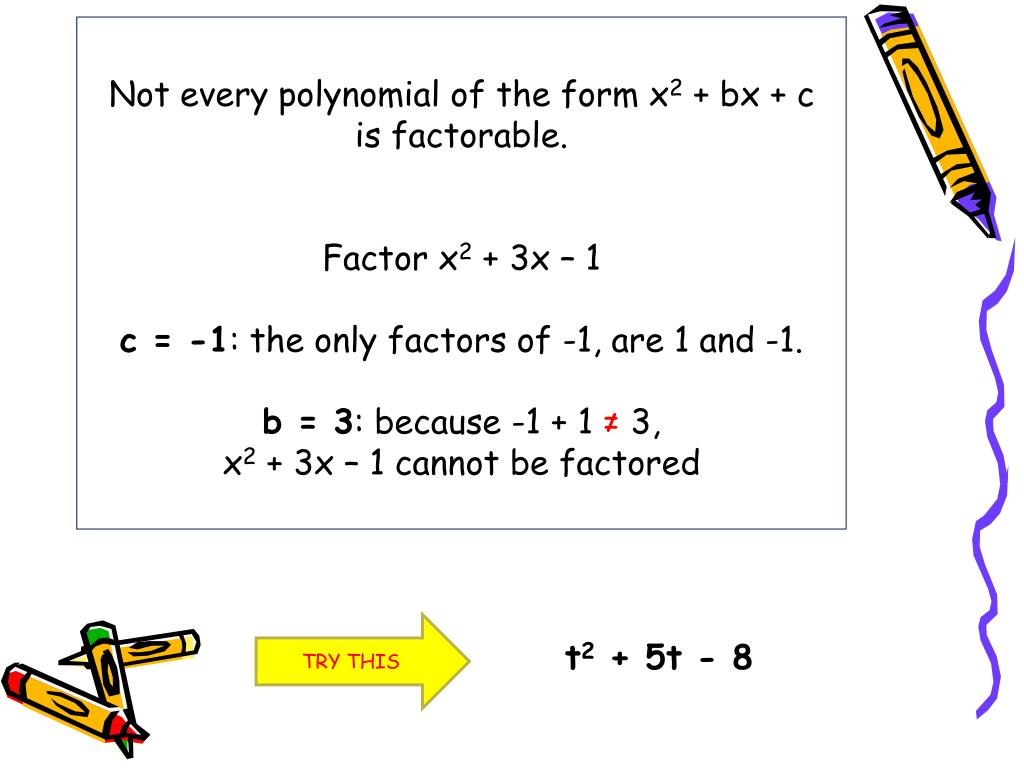 Lesson 8 1 Solving Equations By Factoring X2 Bx C Answers