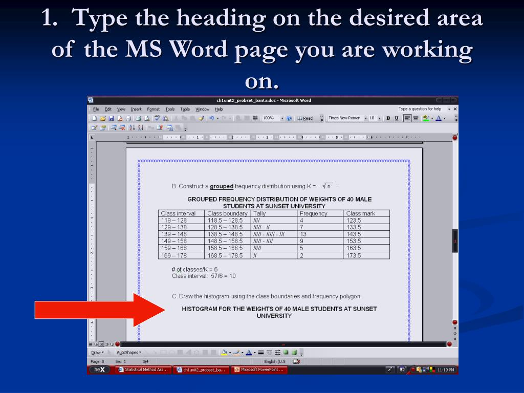 How To Draw A Histogram In Word