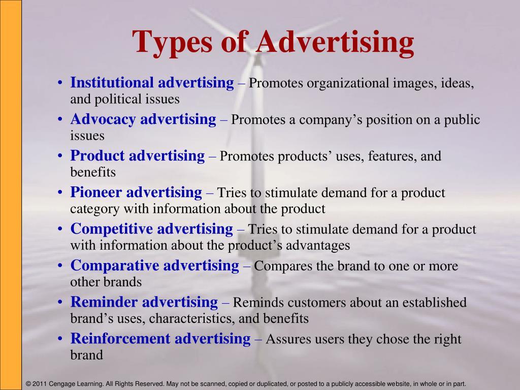 Worksheet Types Of Advertising