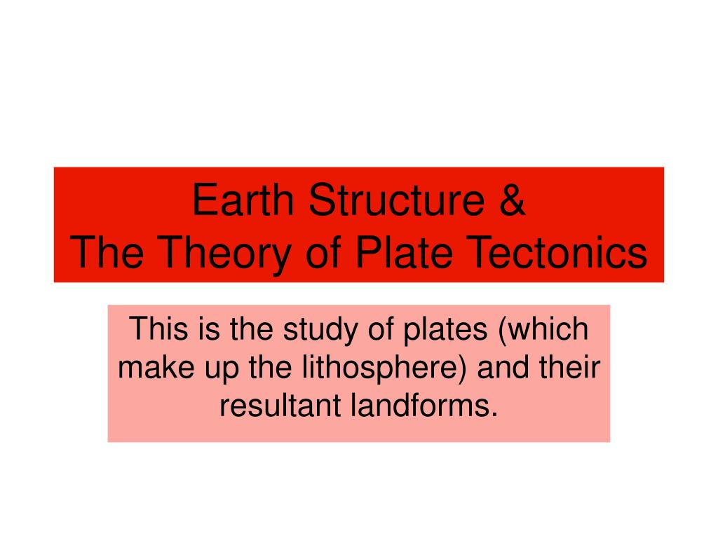 Earth Structure And Plate Tectonics Worksheet
