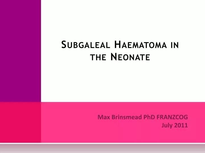 Adrenal Hemorrhage Neonatal