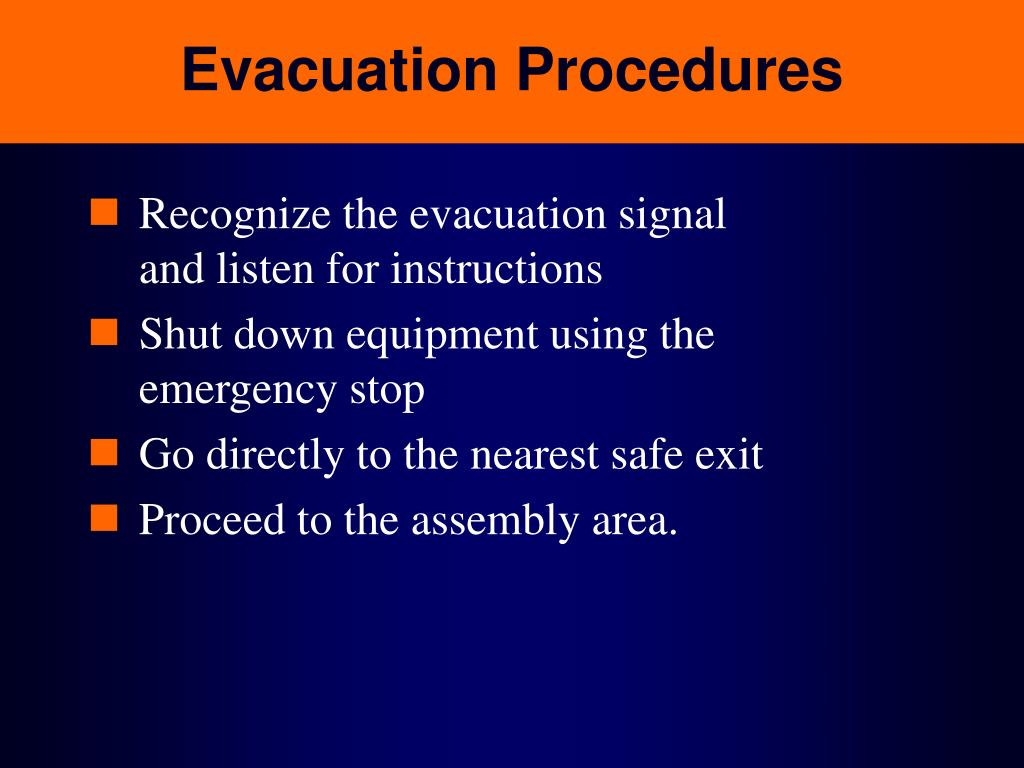 PPT Emergency Action Amp Fire Prevention 29 CFR 191038