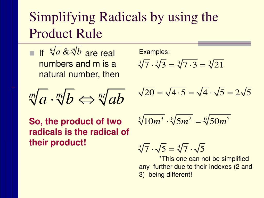 Radical Worksheet 2 Simplifying Radicals