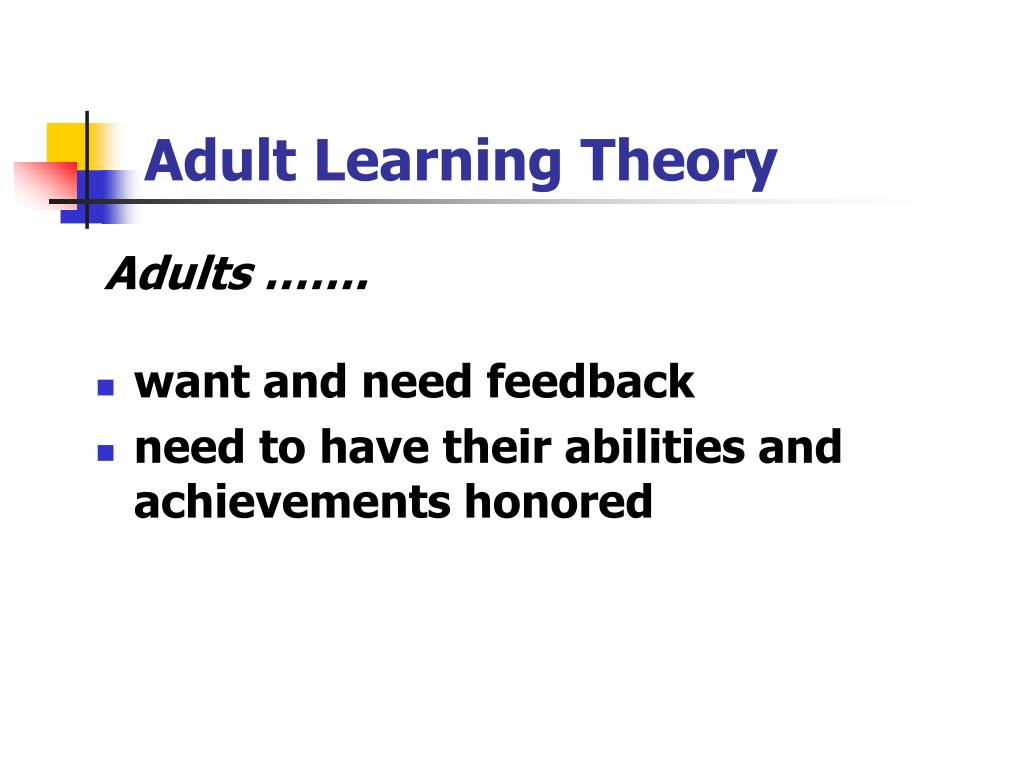 Theories Of Adult Learning