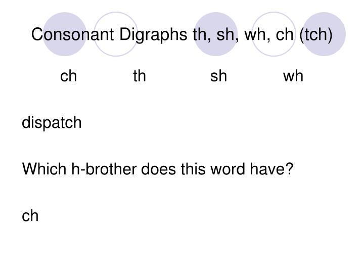 Th Th Th Ch Th Th Sh Wh Th Th Ch Th Th Ch Ch Ch Ch Sh Ch Digraph Ch Th