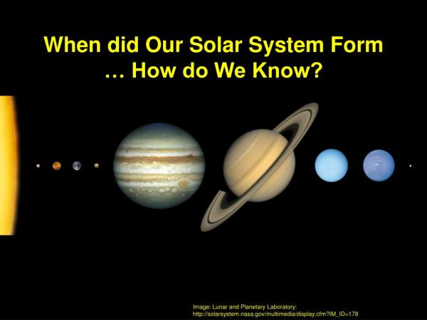 PPT - Formation of Our Solar System PowerPoint ...